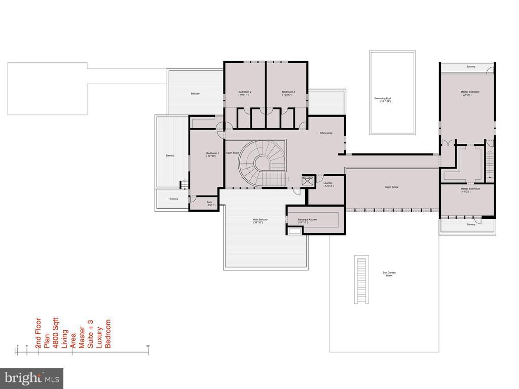 Floor Plan - Upper Level - 681 CHAIN BRIDGE RD, MCLEAN