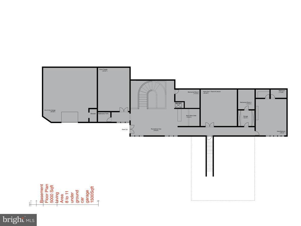 Floor Plan - Lower Level - 681 CHAIN BRIDGE RD, MCLEAN