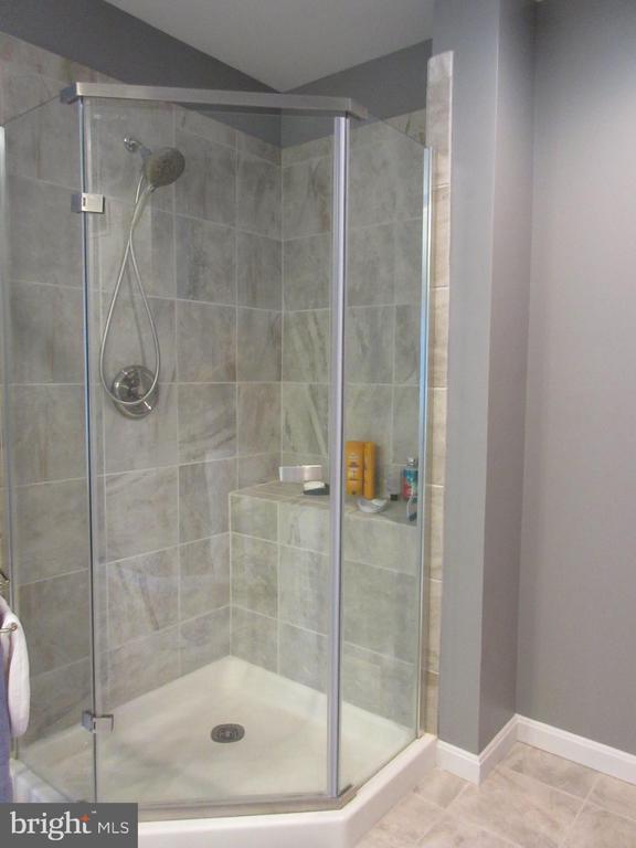 Frameless shower in Master Bath - 10731 HUNTERS PL, VIENNA
