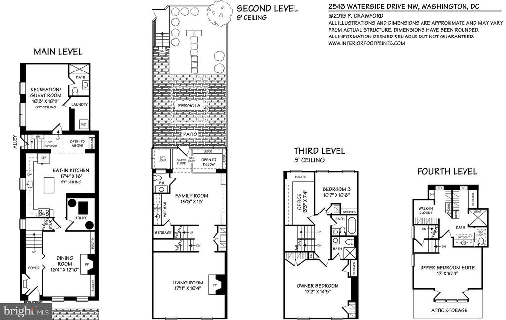 Floor Plan - Approx 3100 Sq Ft Living Space - 2543 WATERSIDE DR NW, WASHINGTON