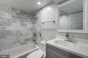 Lower Level Bath - 2807 6TH ST NE, WASHINGTON
