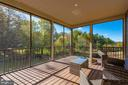 Screened in porch with fan rough-in - 251 KNOTTY ALDER CT, WOODSBORO
