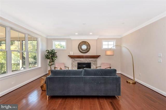 Family room with gas fireplace - 251 KNOTTY ALDER CT, WOODSBORO
