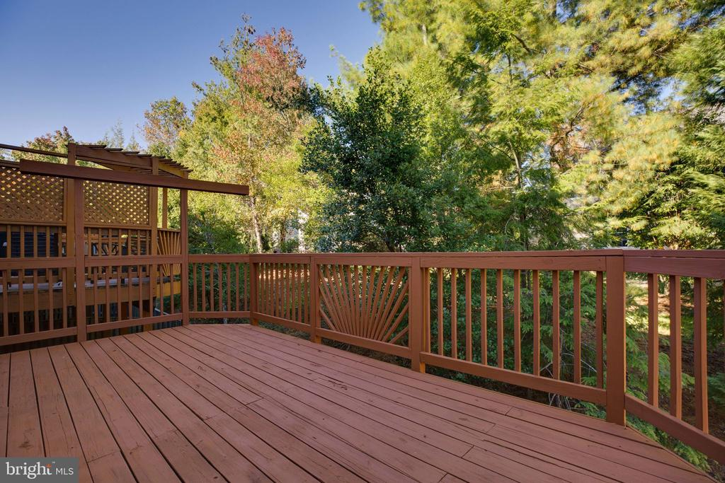 Huge Deck backing to Treed Common Area - 6858 KERRYWOOD CIR, CENTREVILLE
