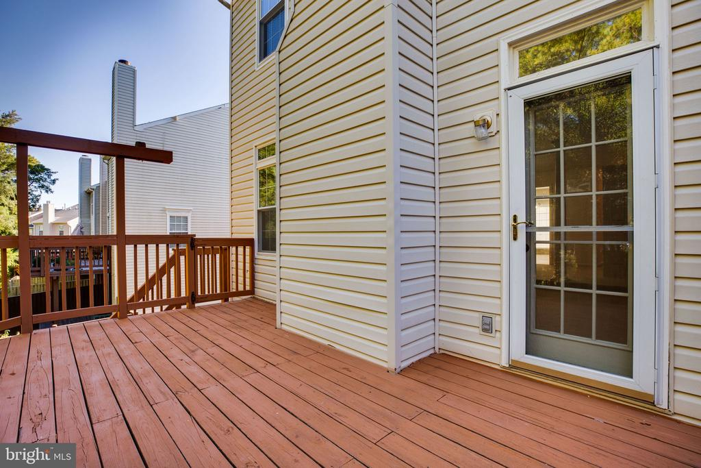 Deck, showing Living Rm Access Door, Plant Trellis - 6858 KERRYWOOD CIR, CENTREVILLE