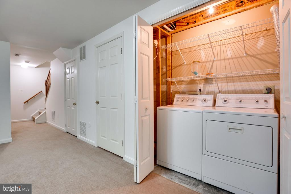Laundry Closet with Shelf - 6858 KERRYWOOD CIR, CENTREVILLE