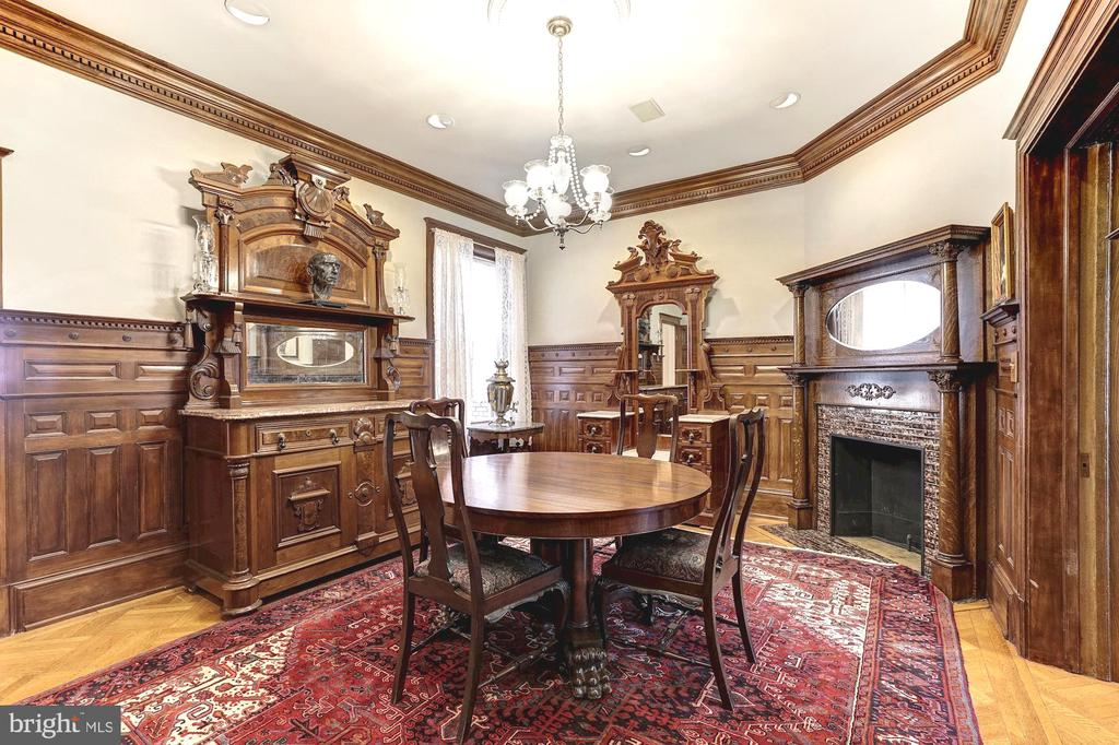 Well-appointed org. fireplace & mantel in din. rm - 1923 S ST NW, WASHINGTON
