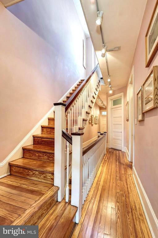 Newly refinished original hardwood floors - 1923 S ST NW, WASHINGTON
