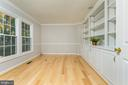 Main level Library/Office with Custom Built-ins - 4917 EDGE ROCK DR, CHANTILLY