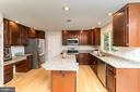 Other features...Center Island and walk-in Pantry - 4917 EDGE ROCK DR, CHANTILLY