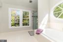 Luxury Master Bath w/ NEW tiled shower & door - 4917 EDGE ROCK DR, CHANTILLY