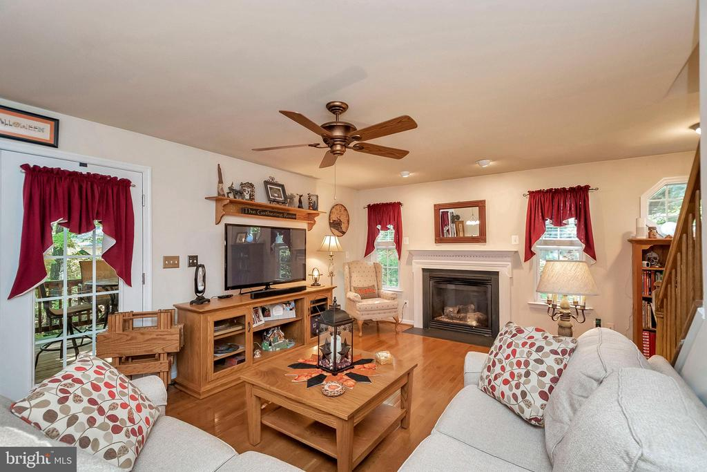 Sit by the cozy fireplace on chilly nights - 404 WILDERNESS DR, LOCUST GROVE
