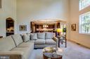 Family room opens to the gourmet kitchen - 11206 VALOR BRIDGE DR, SPOTSYLVANIA