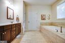 Main-level master bathroom - 11206 VALOR BRIDGE DR, SPOTSYLVANIA