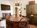 Country eat in dining off kitchen. - 18217 CANBY RD, LEESBURG