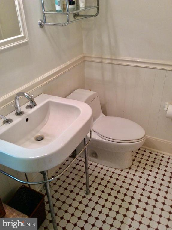 Master bath feat. ceramic & porcelain. - 18217 CANBY RD, LEESBURG