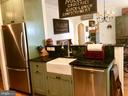 Kohler apron farm sink, SS, granite, eat in dining - 18217 CANBY RD, LEESBURG