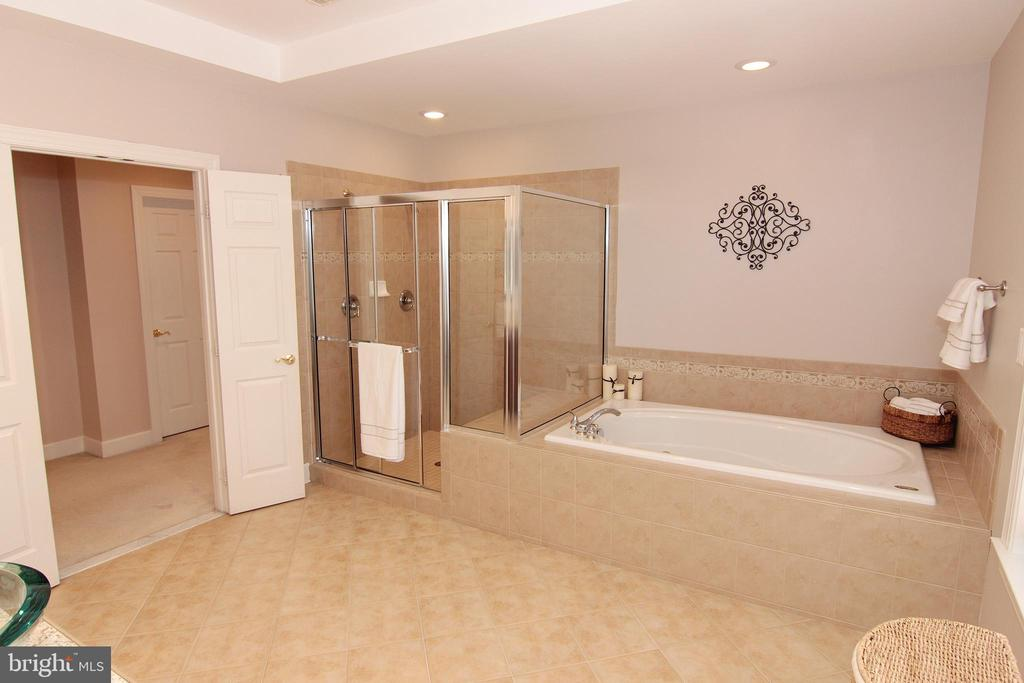 Luxurious Master Bath with French Doors. - 18229 CYPRESS POINT TER, LEESBURG