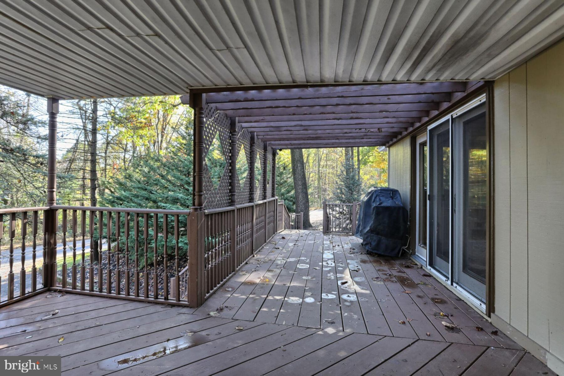 Covered Portion of Wrap Around Deck