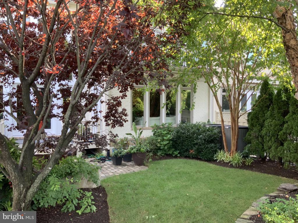 View of backyard lawn - 18375 FAIRWAY OAKS SQ, LEESBURG