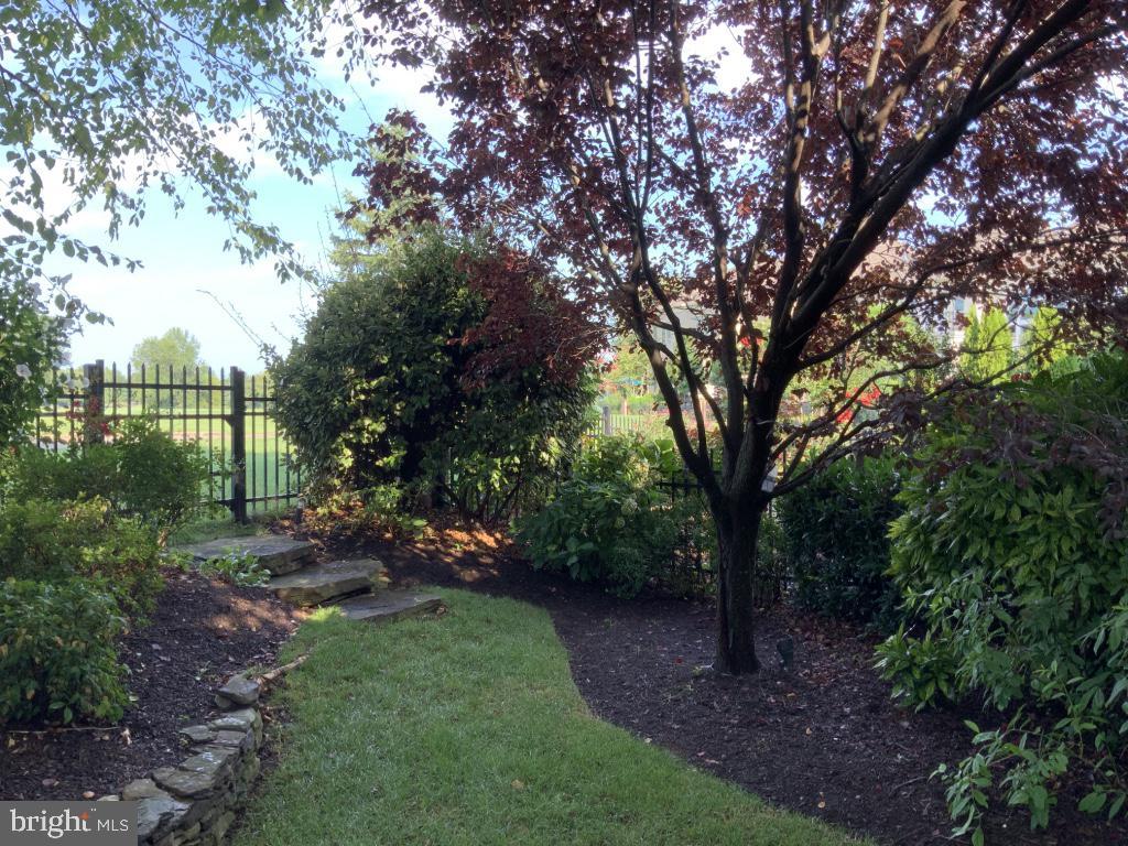 Fenced in backyard is fully landscaped - 18375 FAIRWAY OAKS SQ, LEESBURG