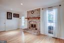 Gorgeous fireplace. - 6132 POBURN LANDING CT, BURKE
