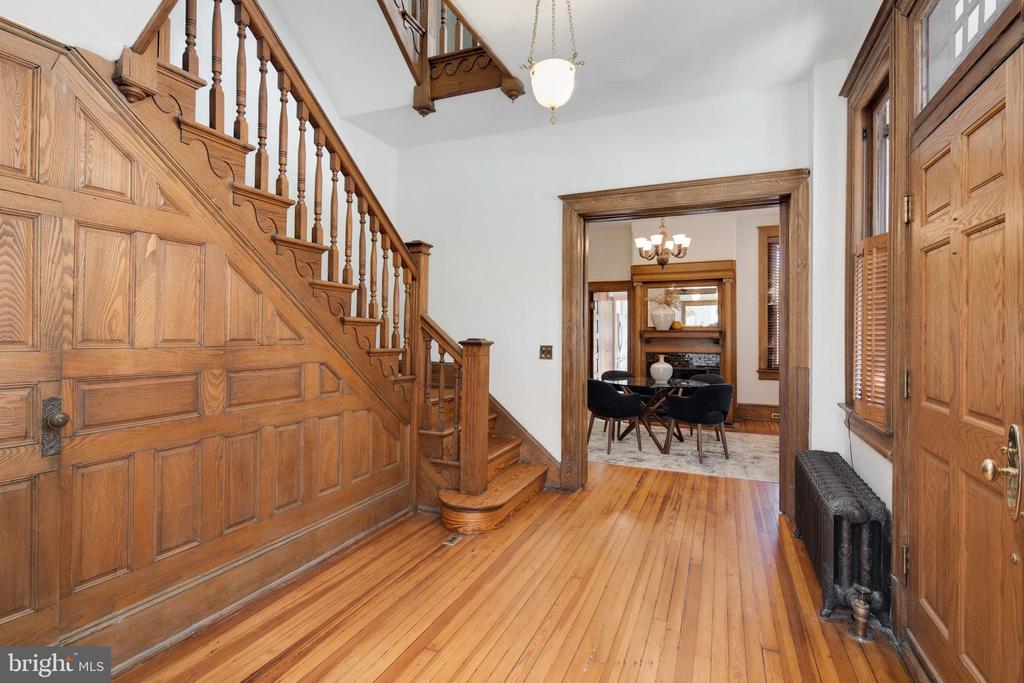Foyer into Dining Room - 1667 MONROE ST NW, WASHINGTON