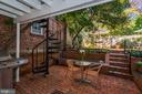 Two-Tiered Rear Garden - 1355 28TH ST NW, WASHINGTON
