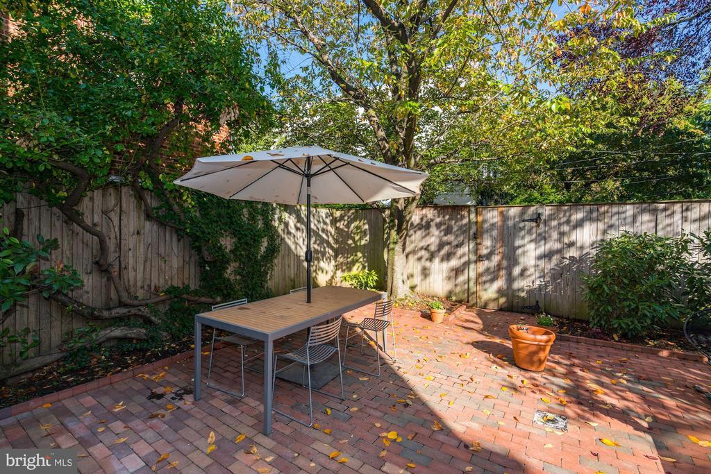 Rear Garden - 1355 28TH ST NW, WASHINGTON