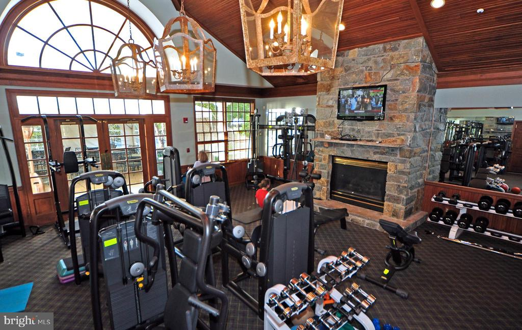 Renovated Fitness Center at the Club. - 18229 CYPRESS POINT TER, LEESBURG