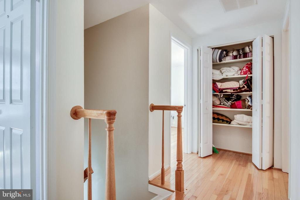 Upstairs Linen Closet. - 6132 POBURN LANDING CT, BURKE