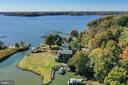 Aerial view----very private on a dead end street. - 1 DEMYAN DR, ANNAPOLIS