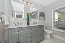 Upper Level Hall Full Bathroom - 120 W ALL SAINTS ST, FREDERICK