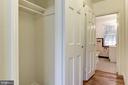 Hallway with 3 closets - 316 ASHBY ST #D, ALEXANDRIA