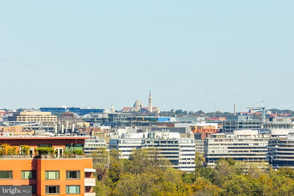 View of the DC skyline from balcony - 1200 N NASH ST #538, ARLINGTON