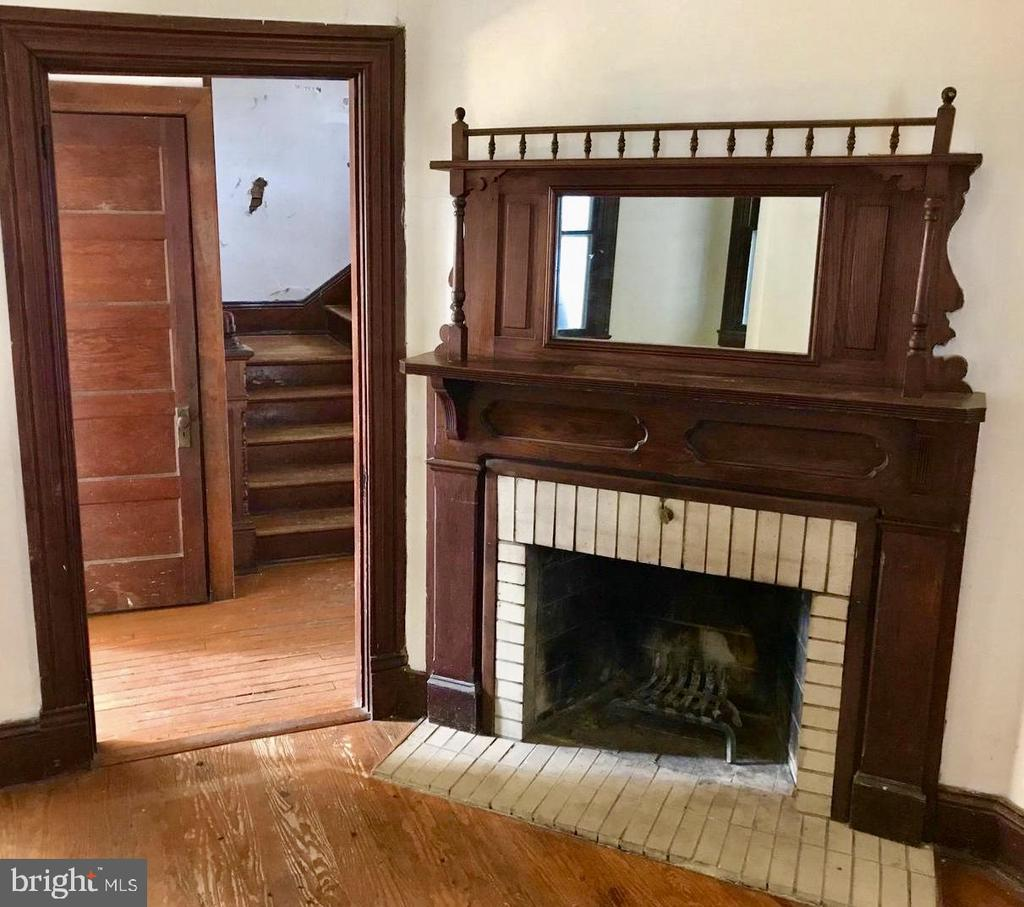Fireplace, Powder Room and Front Hall - 5608 1ST ST S, ARLINGTON