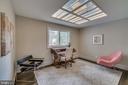 Main level bedroom w/custom overhead lighting - 512 N LITTLETON ST, ARLINGTON