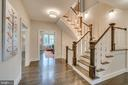 Hallway with stairway to upstairs/downstairs - 512 N LITTLETON ST, ARLINGTON