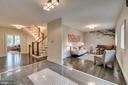 View from foyer to living room - 512 N LITTLETON ST, ARLINGTON
