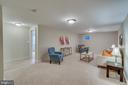 Lower level recreation room - 512 N LITTLETON ST, ARLINGTON