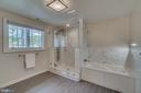 Owners' suite shower and soaking tub - 512 N LITTLETON ST, ARLINGTON