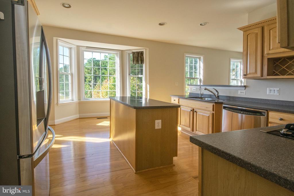 Kitchen has magical view with bay window - 5526 W RICH MOUNTAIN WAY, FREDERICKSBURG