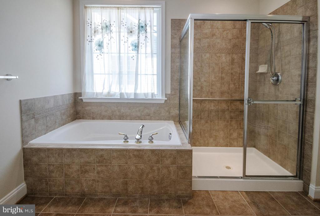 Mater Bath includes tub and comfortable shower - 5526 W RICH MOUNTAIN WAY, FREDERICKSBURG