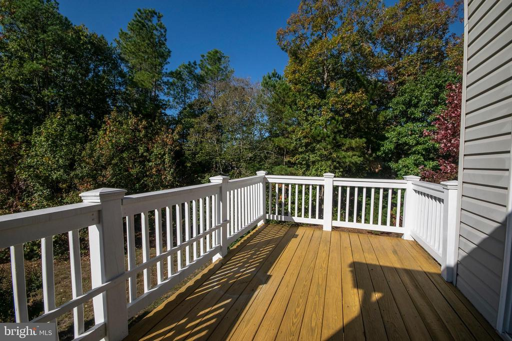 Great view off deck in two direction! - 5526 W RICH MOUNTAIN WAY, FREDERICKSBURG