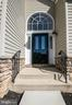 Front entry with palladian window - 5526 W RICH MOUNTAIN WAY, FREDERICKSBURG