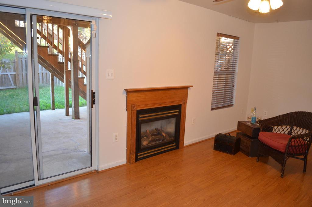 Lower level with gas fireplace to stay warm! - 2498 LAKESIDE DR, FREDERICK