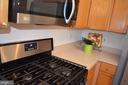 Stainless gas stove w/ built-in microwave - 2498 LAKESIDE DR, FREDERICK