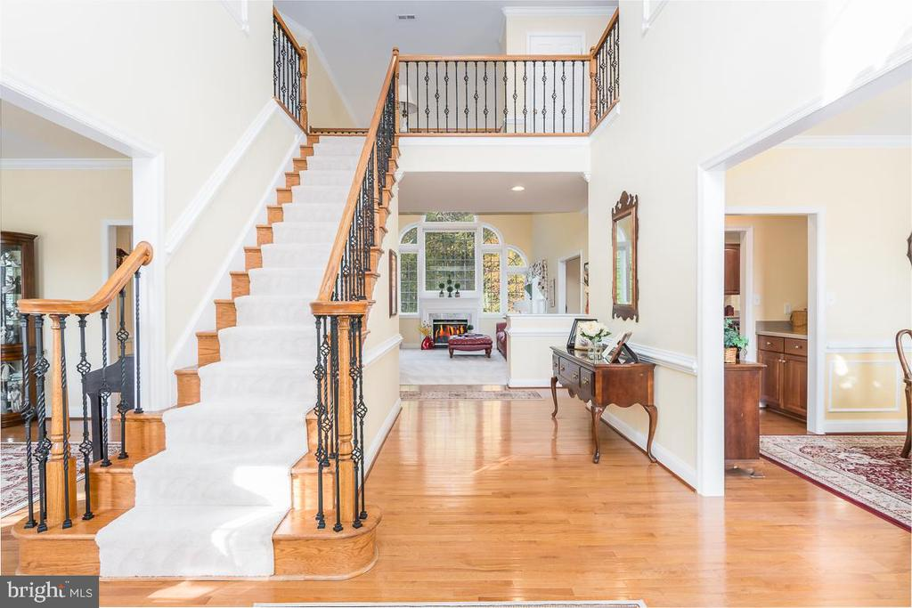 Wrought Iron Railings and Two Story Foyer - 131 ARDEN LN, STAFFORD