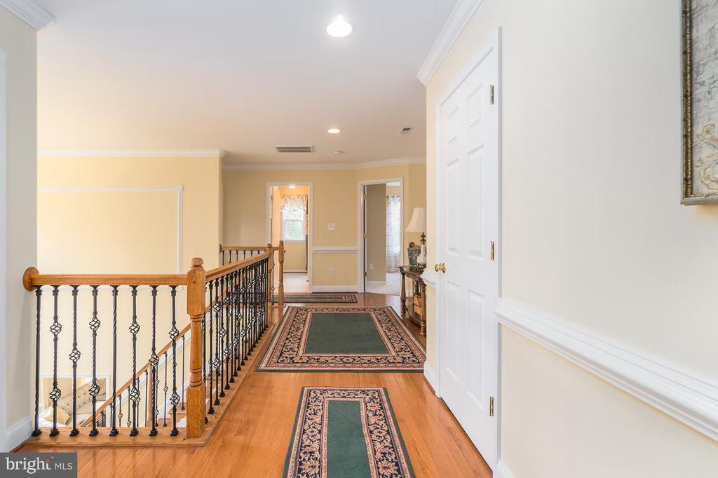 Extra wide Stairway with hardwood flooring - 131 ARDEN LN, STAFFORD