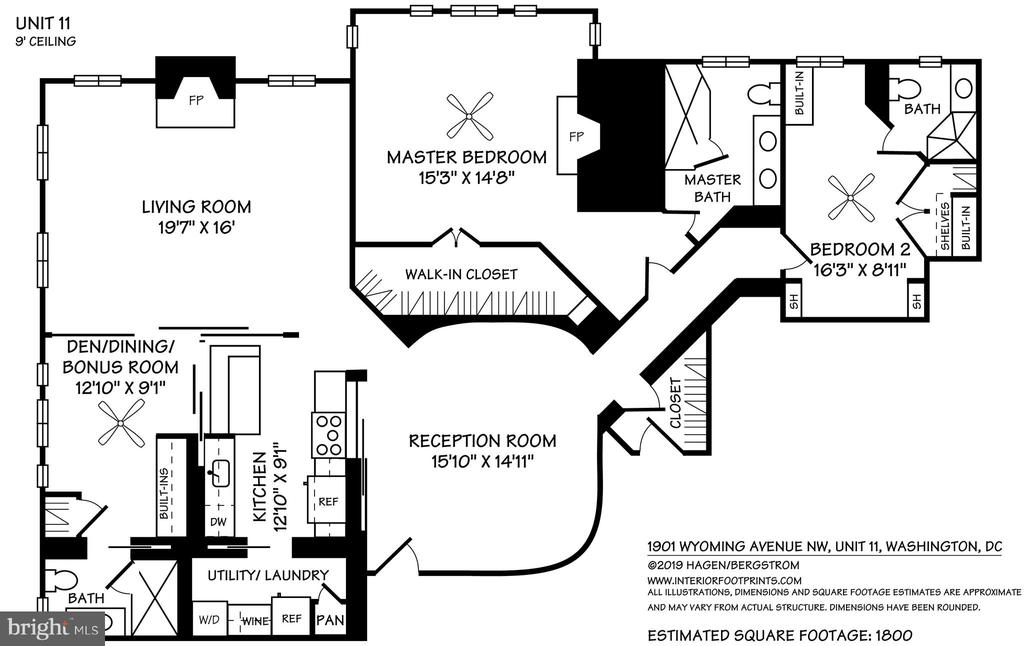 Floor plan - 1901 WYOMING AVE NW #11, WASHINGTON